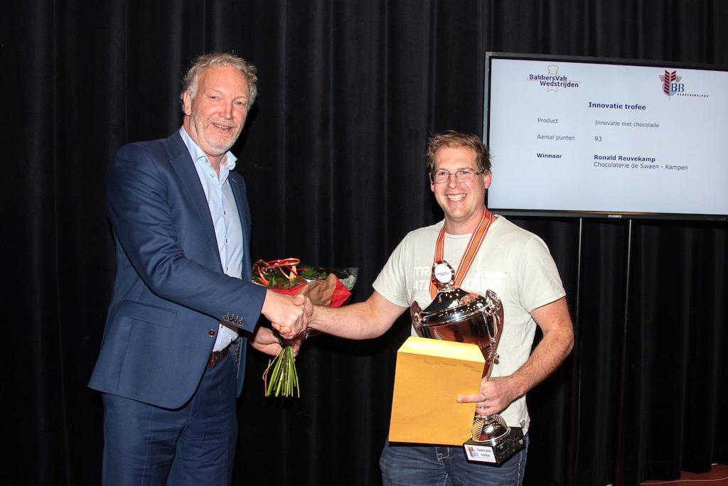 Innovatie trofee: Ronald Reuvekamp van Chocolaterie de Swaen